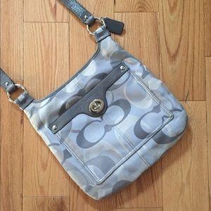 Coach Signature C Sateen & Leather Crossbody Bag